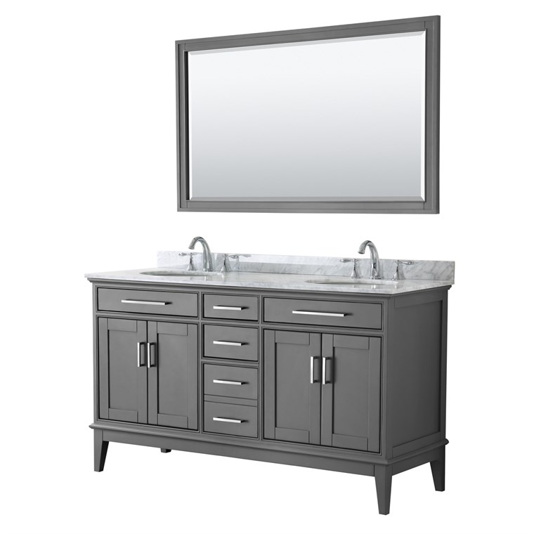 "Margate 60"" Double Bathroom Vanity by Wyndham Collection - Dark Gray WC-3030-60-DBL-VAN-DKG"
