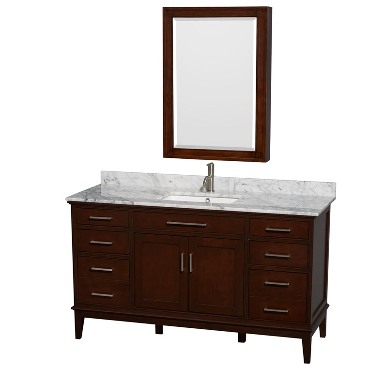 "Hatton 60"" Single Bathroom Vanity - Dark Chestnut WC-1616-60-SGL-VAN-CDK"