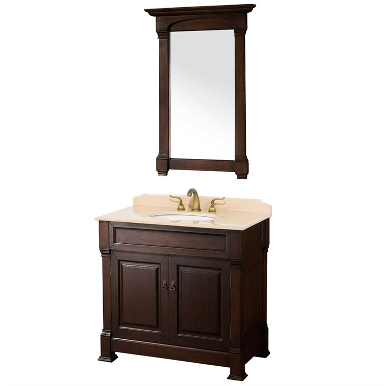 "Andover 36"" Traditional Bathroom Vanity Set - Dark Cherry WC-TS36-DKCH"