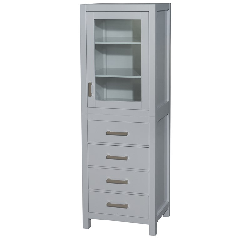 Sheffield Linen Tower by Wyndham Collection - Gray WC-1414-LT-GRY
