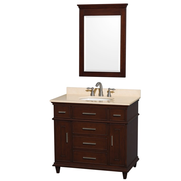 "Berkeley 36"" Single Bathroom Vanity - Dark Chestnut WC-1717-36-SGL-CDK"