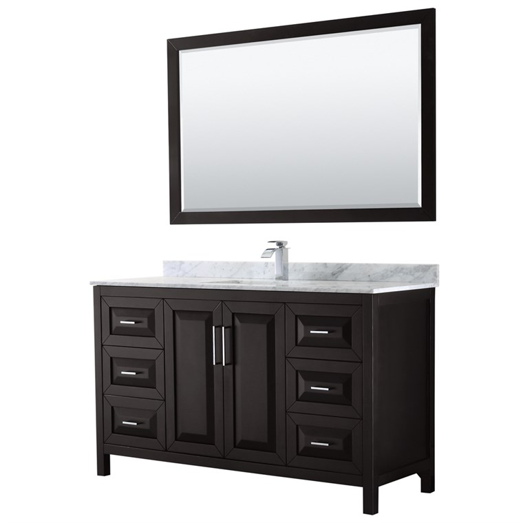 "Daria 60"" Single Bathroom Vanity by Wyndham Collection - Dark Espresso WC-2525-60-SGL-VAN-DES"