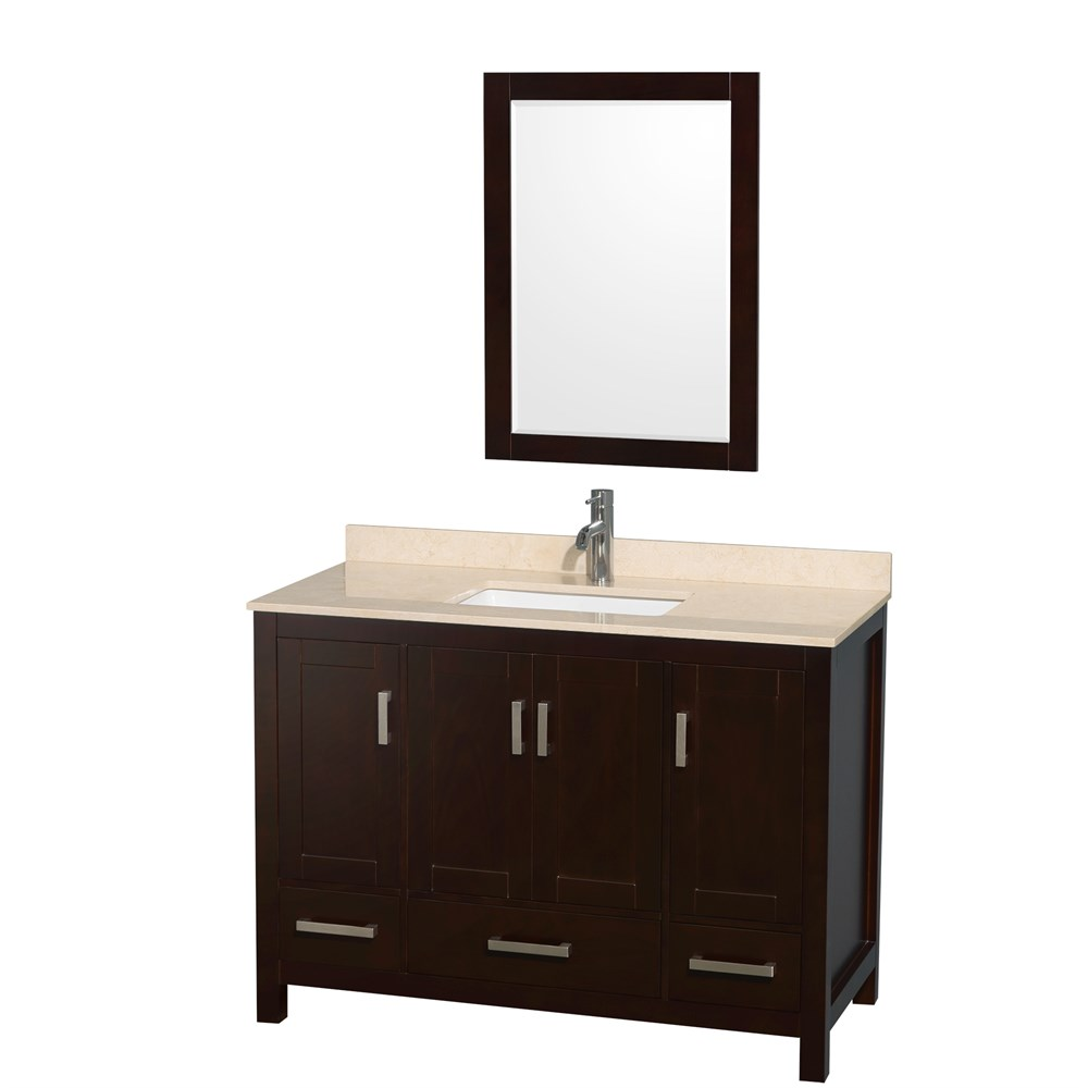 Sheffield 48 Single Bathroom Vanity Espresso Beautiful Bathroom Furniture For Every Home Wyndham Collection