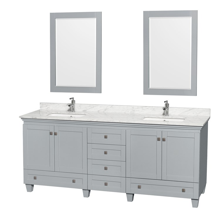 Acclaim 80 in. Double Bathroom Vanity - Oyster Gray WC-CG8000-80-DBL-VAN-OYS-