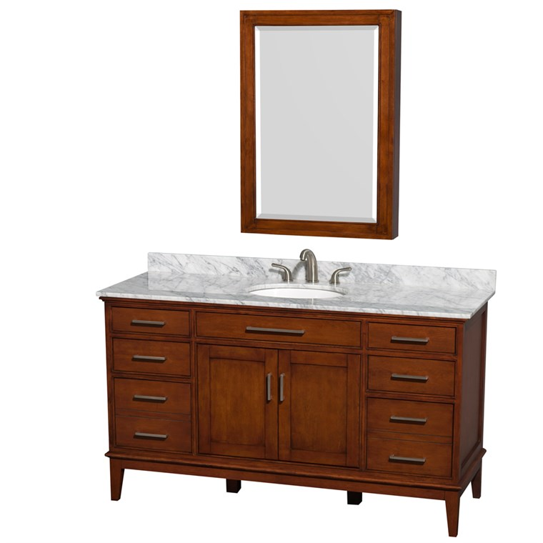 "Hatton 60"" Single Bathroom Vanity - Light Chestnut WC-1616-60-SGL-VAN-CLT"