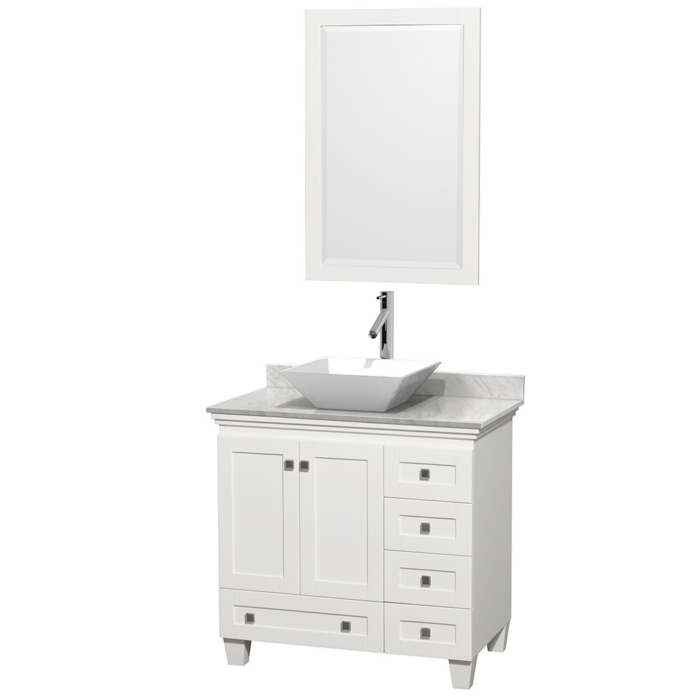 Acclaim 36 Single Bathroom Vanity For Vessel Sink White Beautiful Bathroom Furniture For Every Home Wyndham Collection
