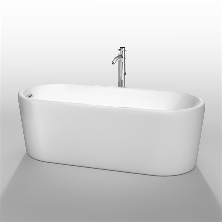 "Ursula 67"" Soaking Bathtub by Wyndham Collection - White COPY WC-BTE1511-67"