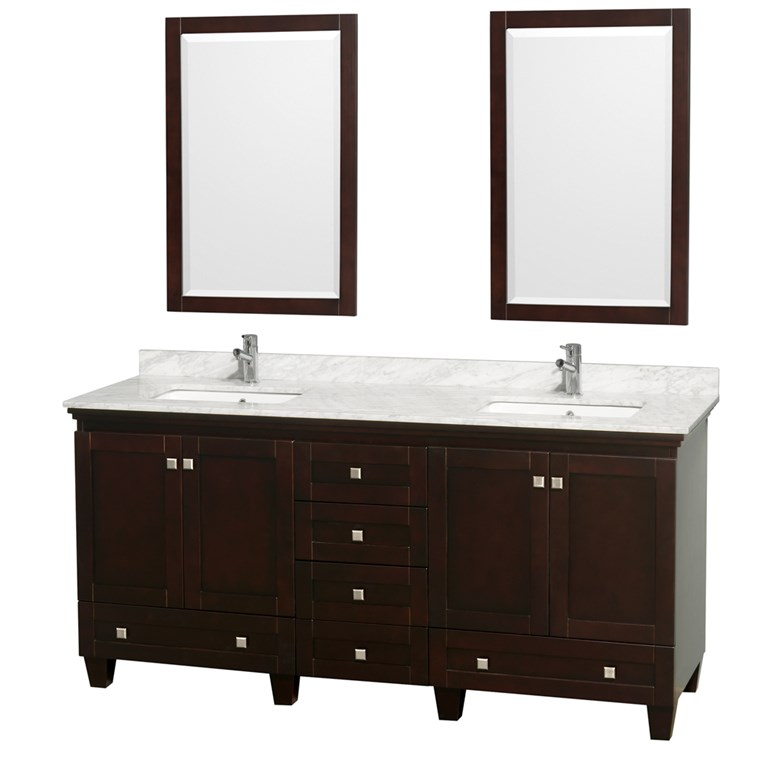 Acclaim 72 in. Double Bathroom Vanity - Espresso WC-CG8000-72-DBL-VAN-ESP-
