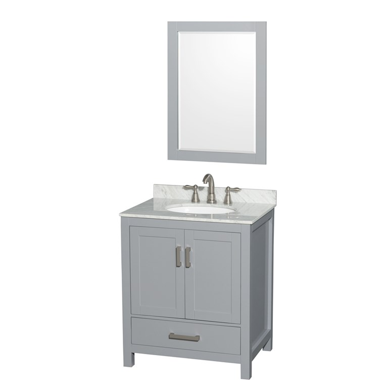 "Sheffield 30"" Single Bathroom Vanity by Wyndham Collection - Gray WC-1414-30-SGL-VAN-GRY"