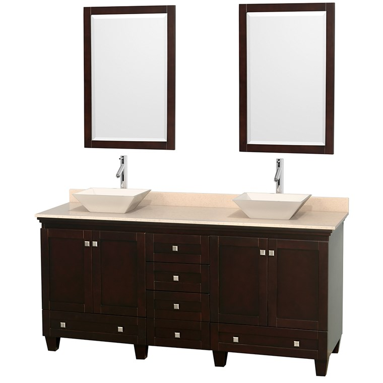"Acclaim 72"" Double Bathroom Vanity for Vessel Sinks - Espresso WC-CG8000-72-DBL-VAN-ESP"