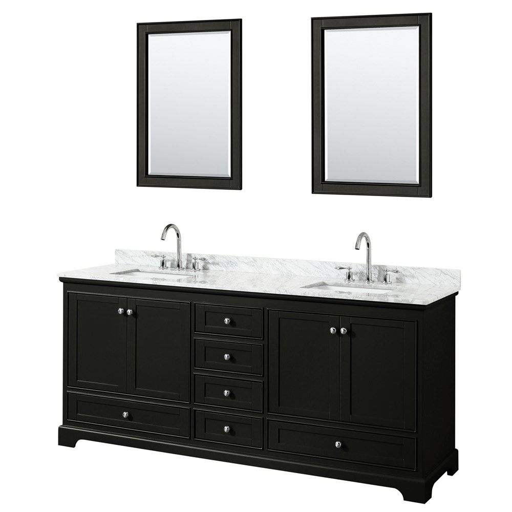 "Deborah 80"" Double Bathroom Vanity - Dark Espresso WC-2020-80-DBL-VAN-DES"