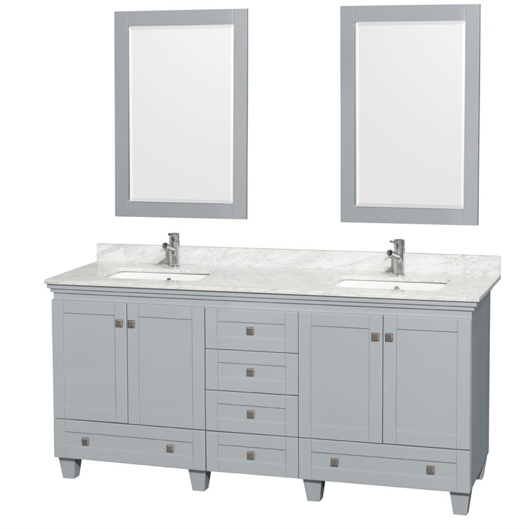Acclaim 72 in. Double Bathroom Vanity - Oyster Gray WC-CG8000-72-DBL-VAN-OYS-