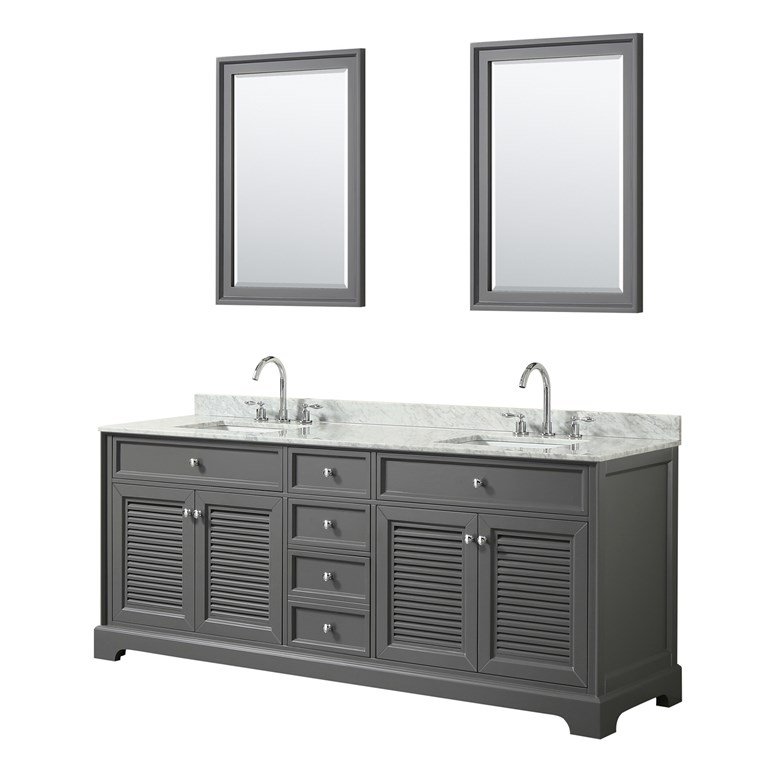 "Tamara 80"" Double Bathroom Vanity - Dark Gray WC-2121-80-DBL-VAN-DKG"