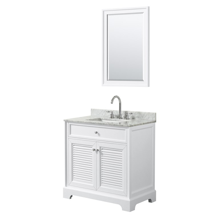 "Tamara 30"" Single Bathroom Vanity by Wyndham Collection - White WC-2121-30-SGL-VAN-WHT"