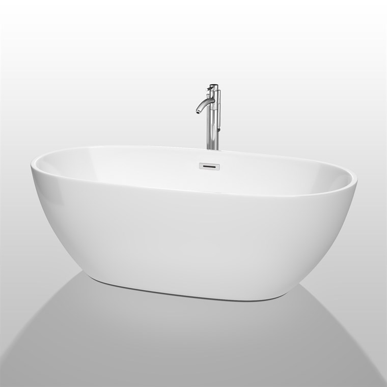 "Juno 67"" Soaking Bathtub by Wyndham Collection - White WC-BTK1561-67"