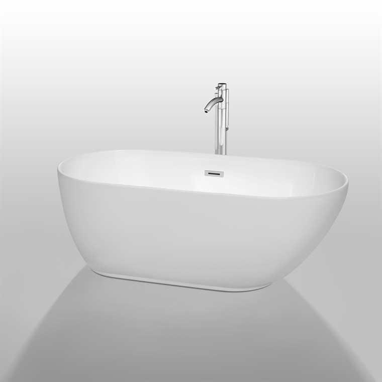 "Melissa 60"" Soaking Bathtub by Wyndham Collection WC-BT1000-60"