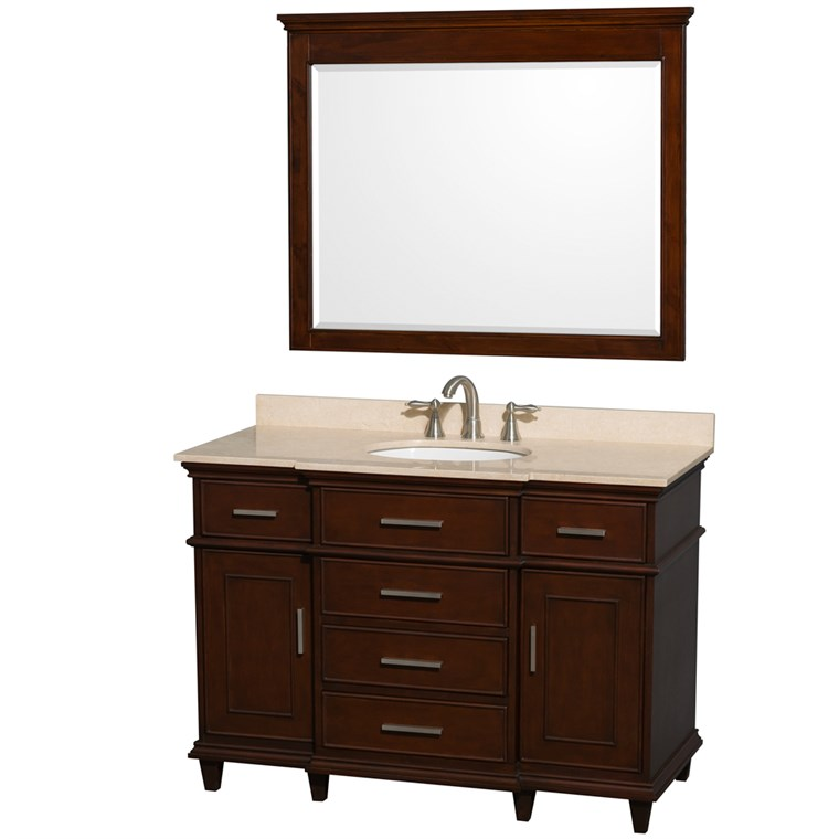 "Berkeley 48"" Single Bathroom Vanity - Dark Chestnut WC-1717-48-SGL-CDK"