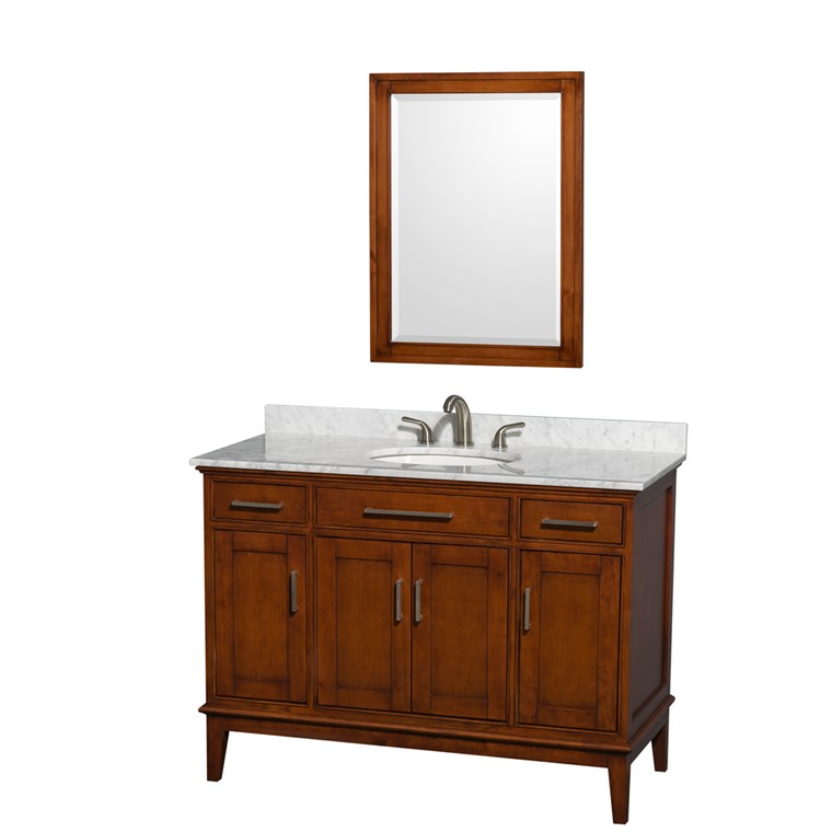 "Hatton 48"" Single Bathroom Vanity by Wyndham Collection - Light Chestnut WC-1616-48-SGL-VAN-CLT"