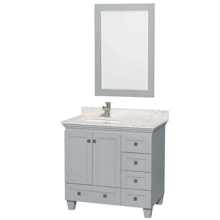Acclaim 36 in. Single Bathroom Vanity - Oyster Gray WC-CG8000-36-SGL-VAN-OYS-