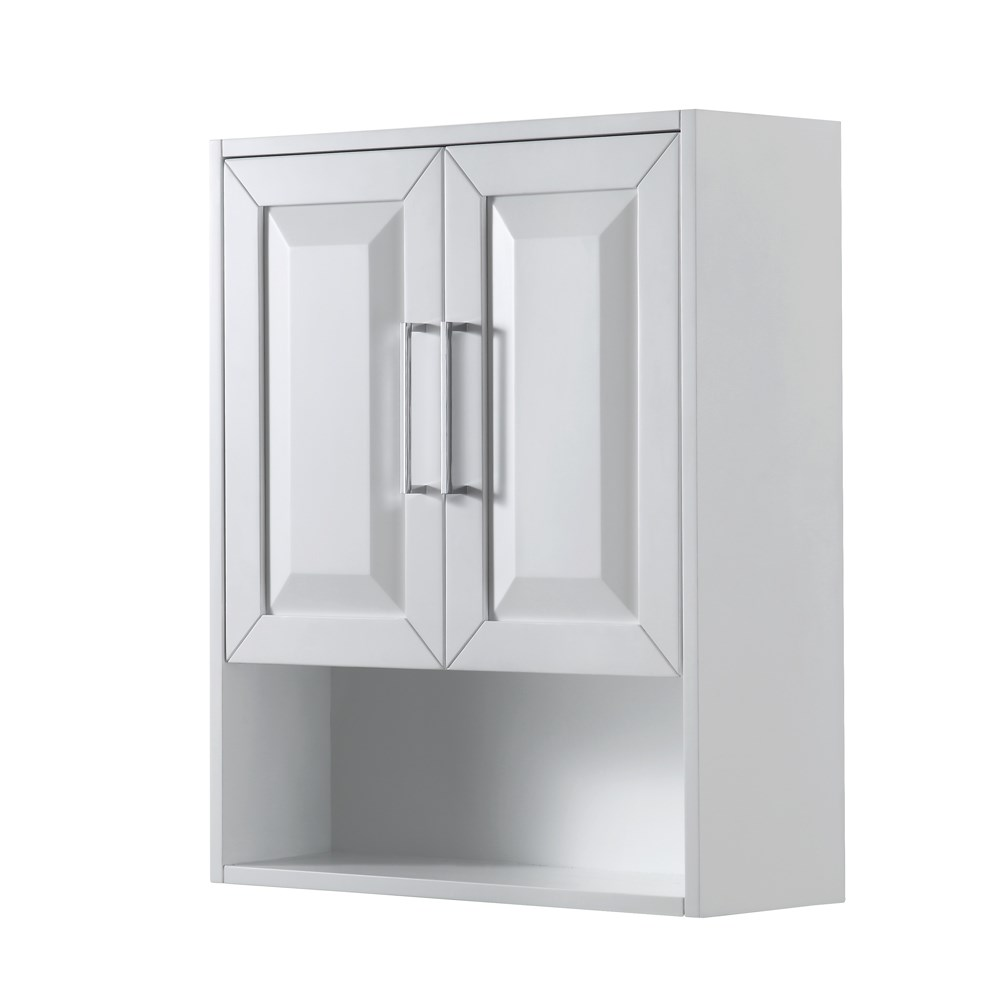 Daria Over-Toilet Wall Cabinet - White WC-2525-WC-WHT