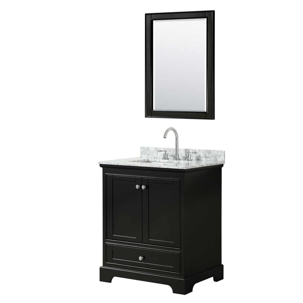 "Deborah 30"" Single Bathroom Vanity - Dark Espresso WC-2020-30-SGL-VAN-DES"