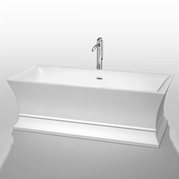 "Jamie 67"" Soaking Bathtub - White WC-BTO851-67"