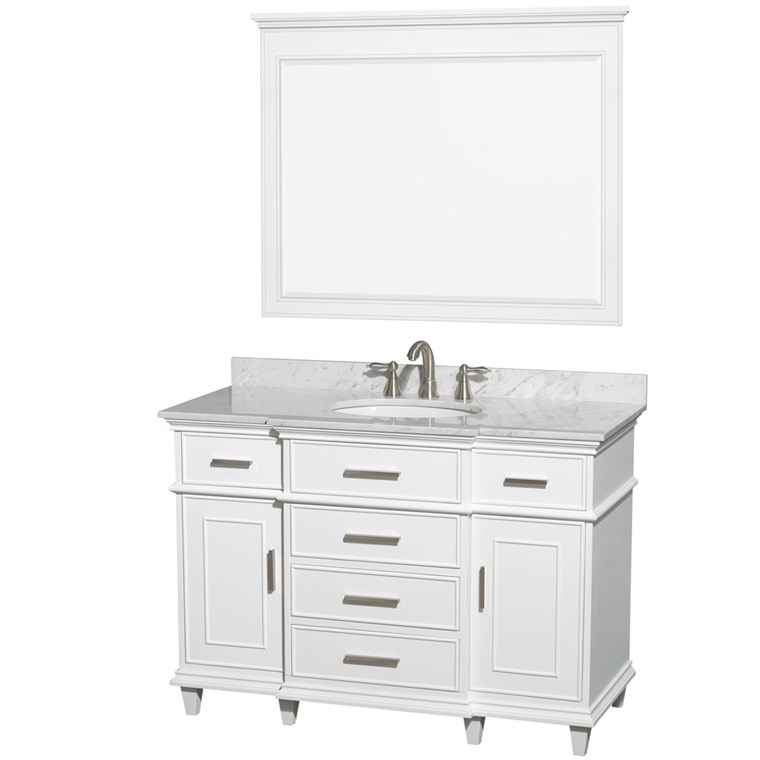 "Berkeley 48"" Single Bathroom Vanity - White WC-1717-48-SGL-WHT"