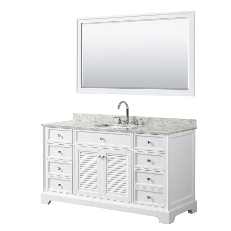 "Tamara 60"" Single Bathroom Vanity - White WC-2121-60-SGL-VAN-WHT"
