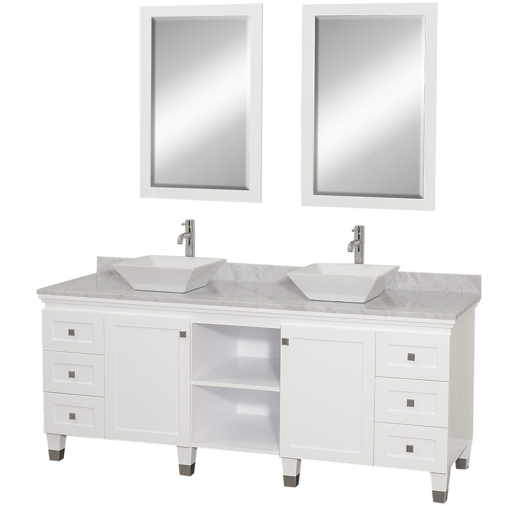 Premiere 72 Bathroom Double Vanity White