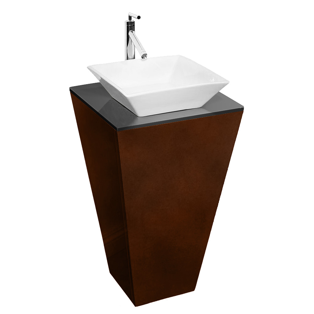 Esprit Bathroom Pedestal Vanity Set Espresso W Pyra Vessel Sink Beautiful Bathroom Furniture For Every Home Wyndham Collection