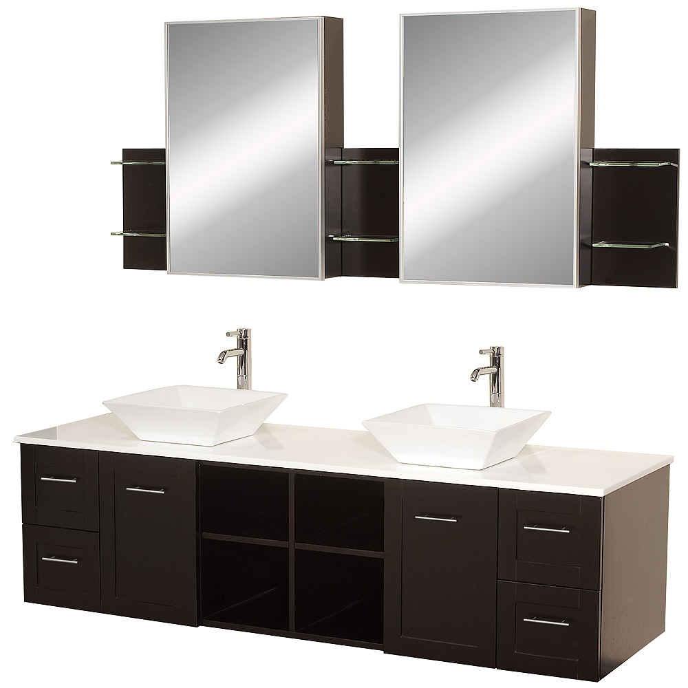 Avara 72 Wall Mounted Double Bathroom Vanity Set Espresso Beautiful Bathroom Furniture For Every Home Wyndham Collection