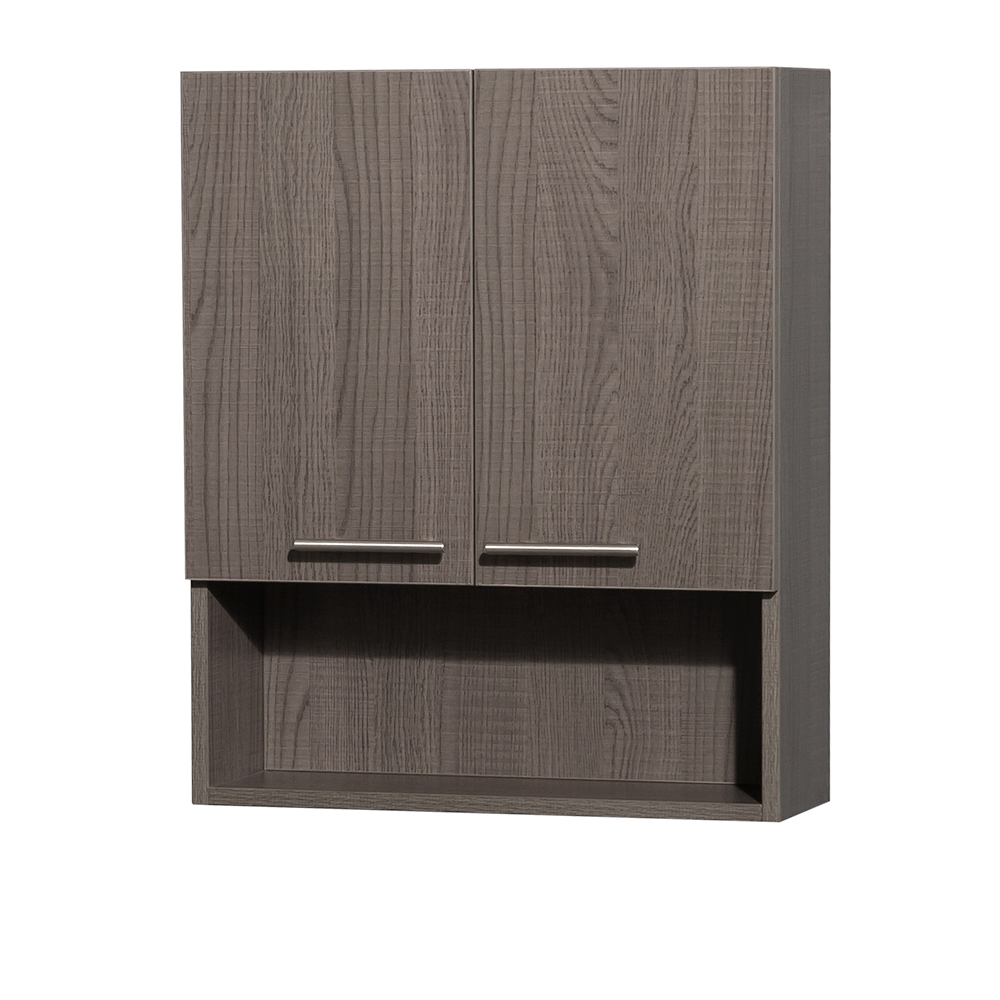 Amare Over Toilet Wall Cabinet Gray Oak Beautiful Bathroom Furniture For Every Home Wyndham Collection