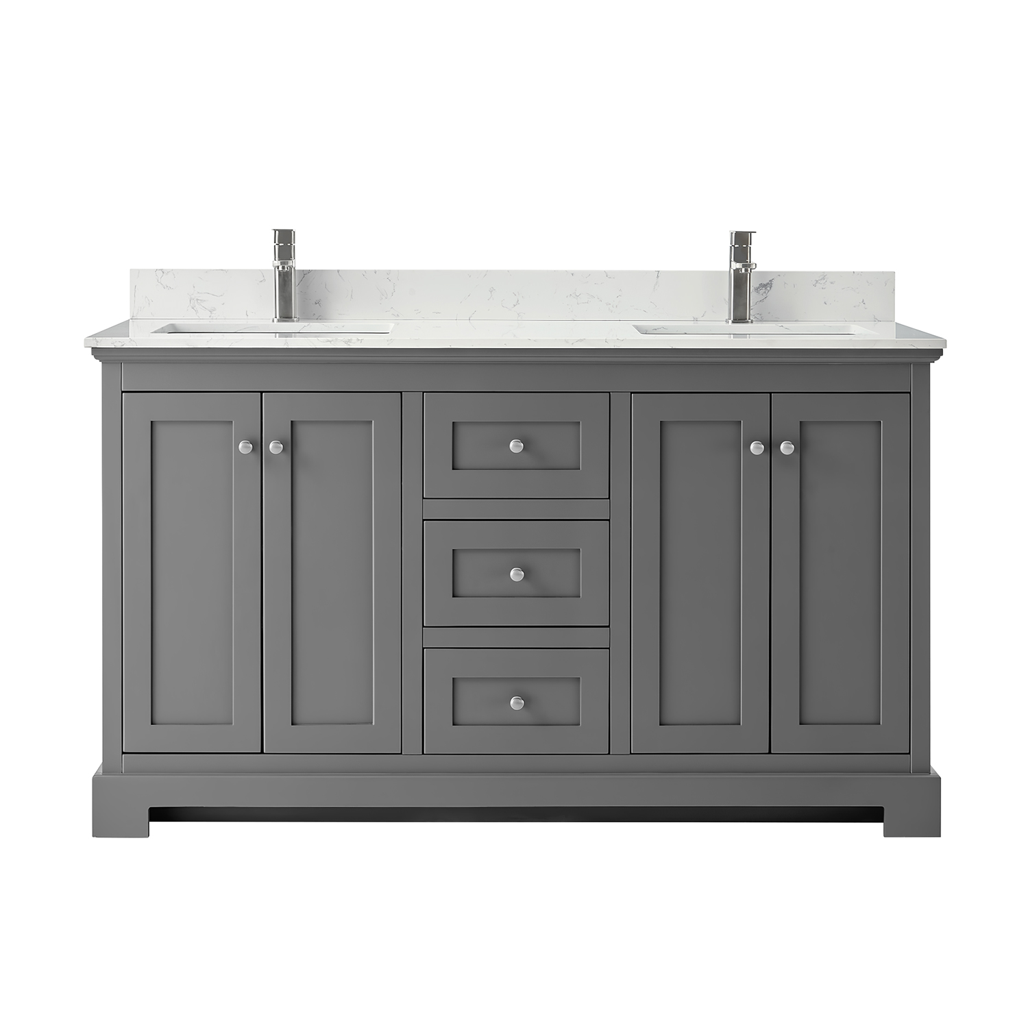 Ryla 60 Double Bathroom Vanity Dark Gray Beautiful Bathroom Furniture For Every Home Wyndham Collection