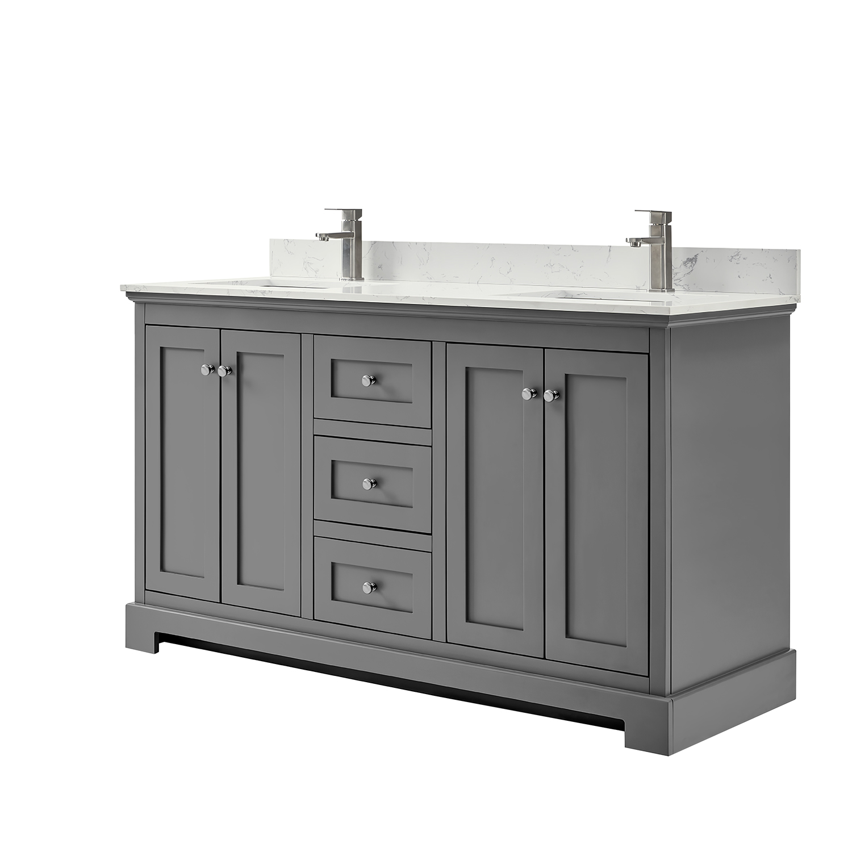 Double Bathroom Vanity Dark Gray