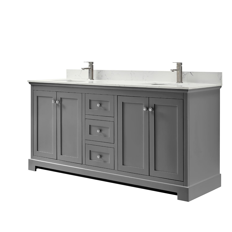 Ryla 72 Double Bathroom Vanity Dark Gray Beautiful Bathroom Furniture For Every Home Wyndham Collection
