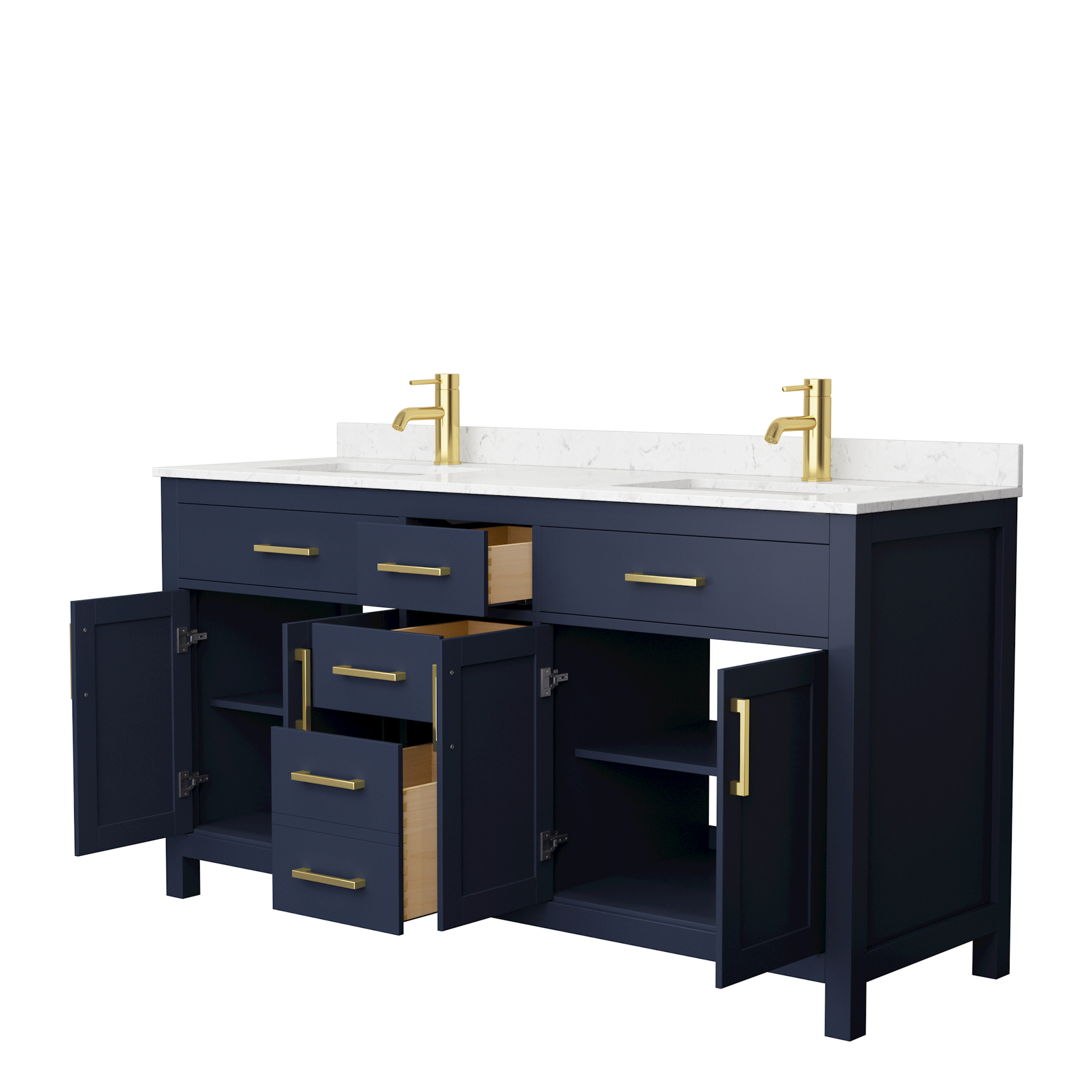 Beckett 66 Double Bathroom Vanity Dark Blue Beautiful Bathroom Furniture For Every Home Wyndham Collection