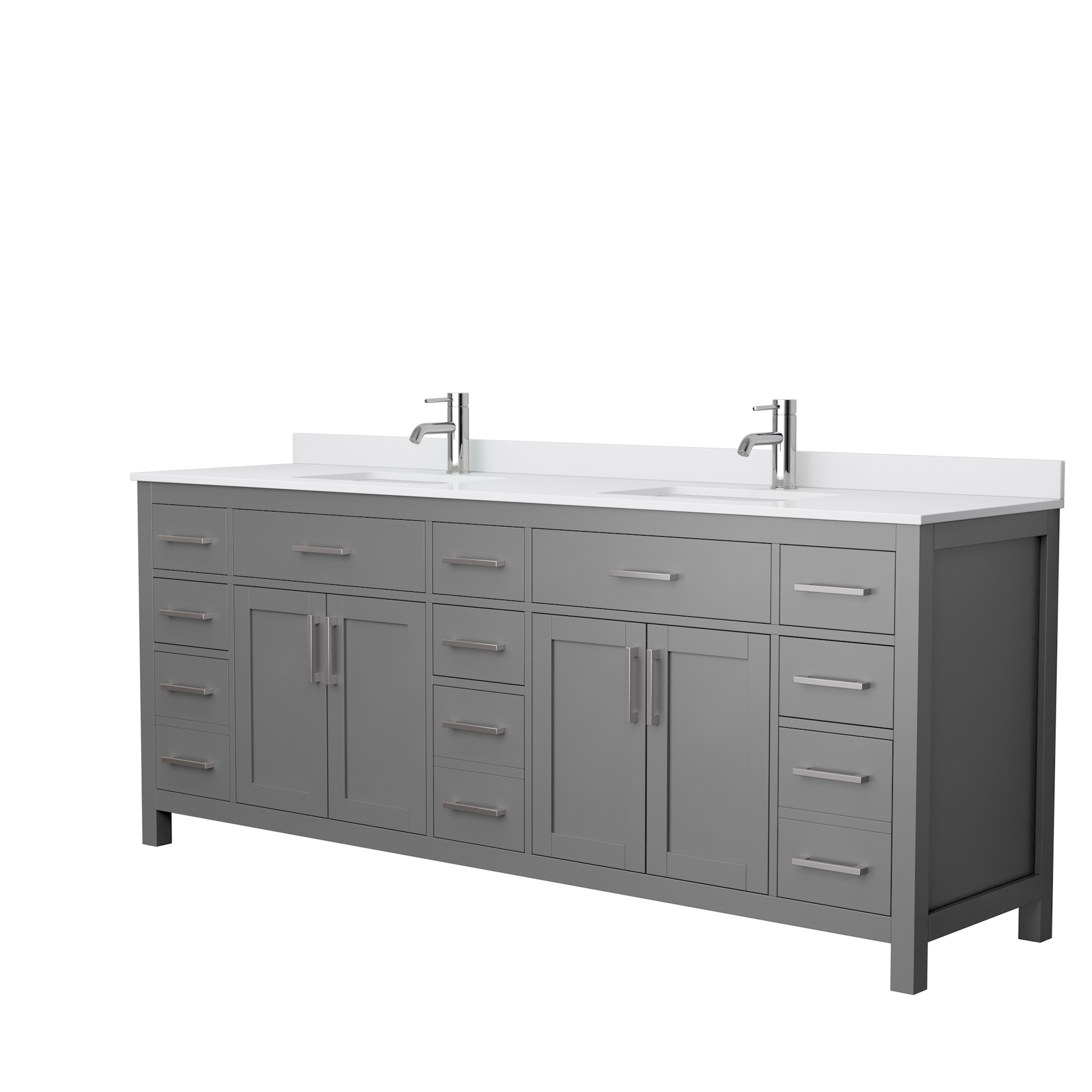 Beckett 84 Double Bathroom Vanity Dark Gray Beautiful Bathroom Furniture For Every Home Wyndham Collection