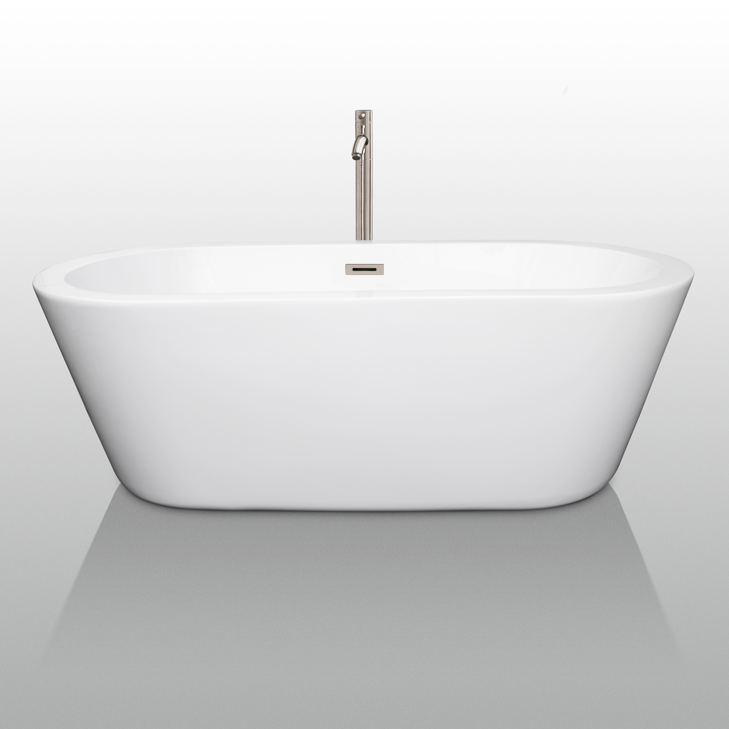 Mermaid 67 Soaking Bathtub By Wyndham Collection White Beautiful Bathroom Furniture For Every Home Wyndham Collection