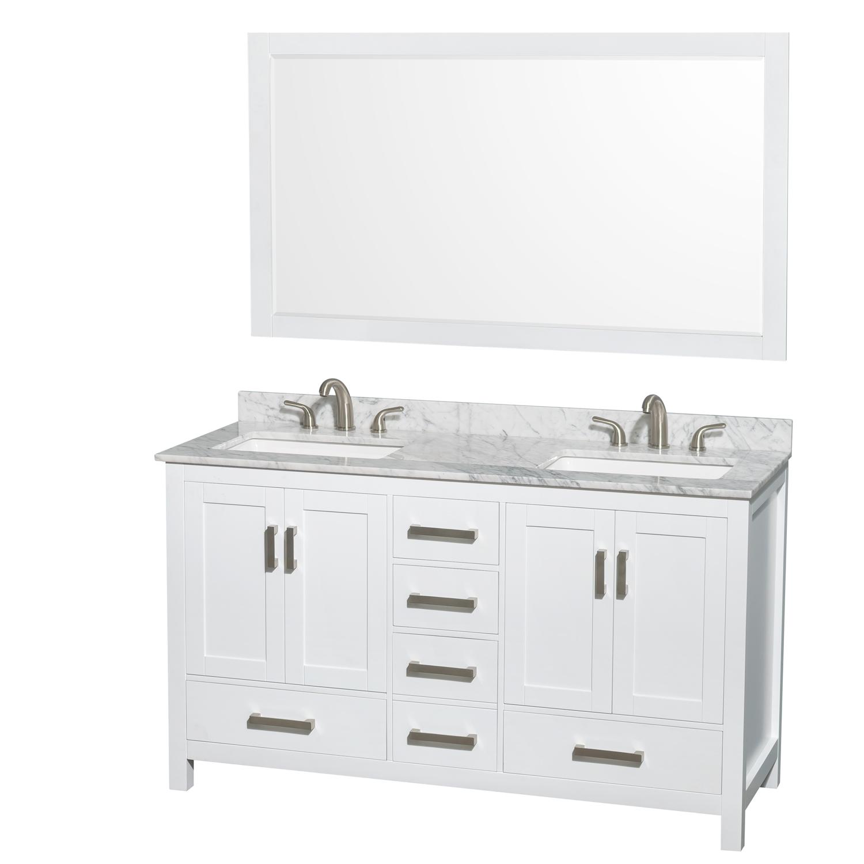 Double Bathroom Vanity Square Sinks