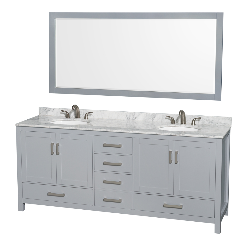 Sheffield 80 Double Bathroom Vanity Gray Beautiful Bathroom Furniture For Every Home Wyndham Collection