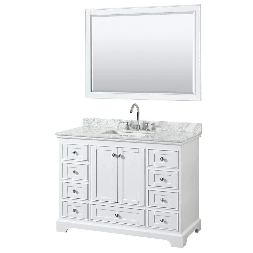 Deborah 48 Single Bathroom Vanity In White Beautiful Bathroom Furniture For Every Home Wyndham Collection