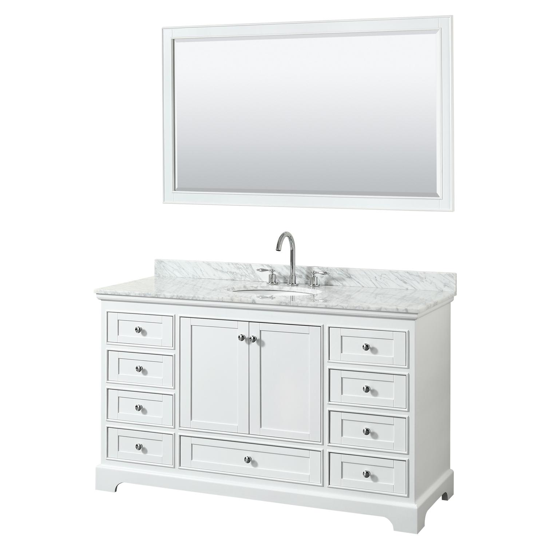 Deborah 60 Single Bathroom Vanity In White Beautiful Bathroom Furniture For Every Home Wyndham Collection