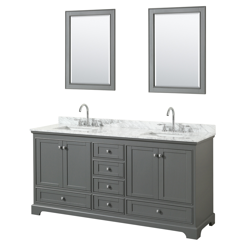 Deborah 72 Double Bathroom Vanity Dark Gray Beautiful Bathroom Furniture For Every Home Wyndham Collection