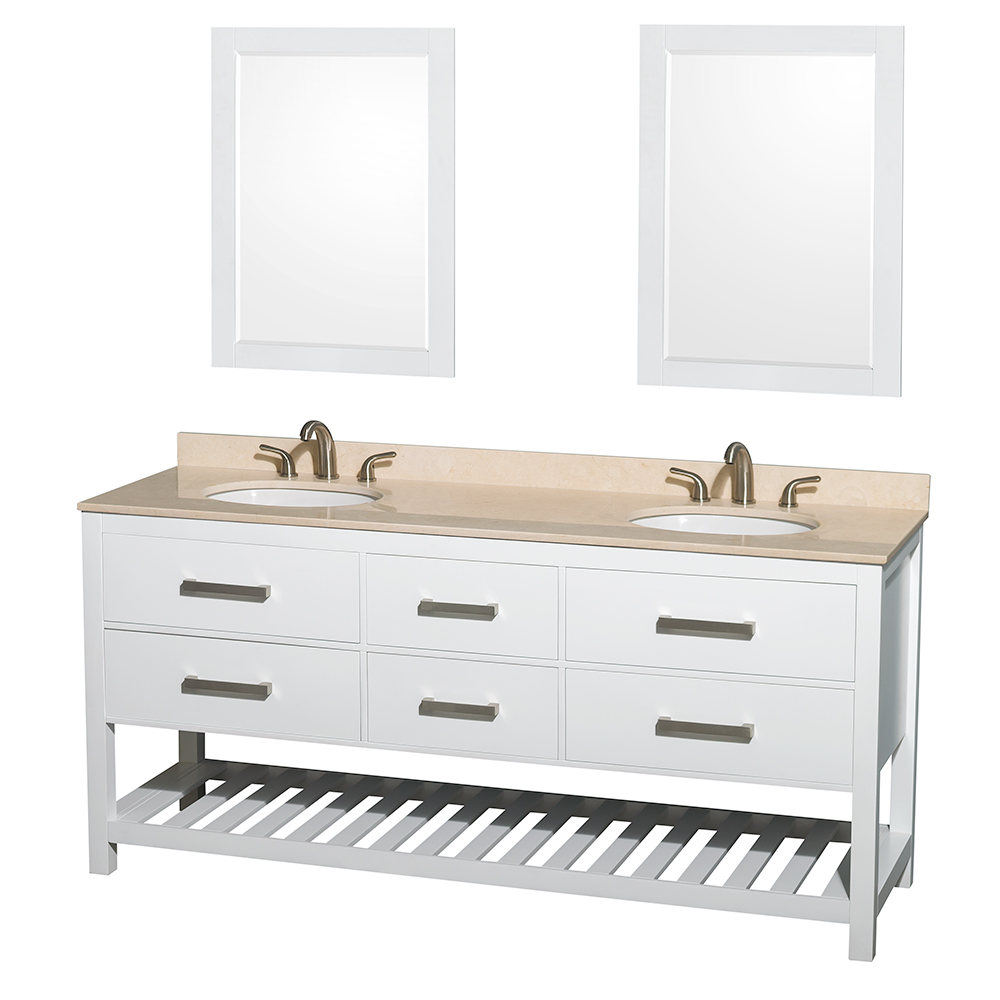 Natalie 72 Double Bathroom Vanity White Beautiful Bathroom Furniture For Every Home Wyndham Collection