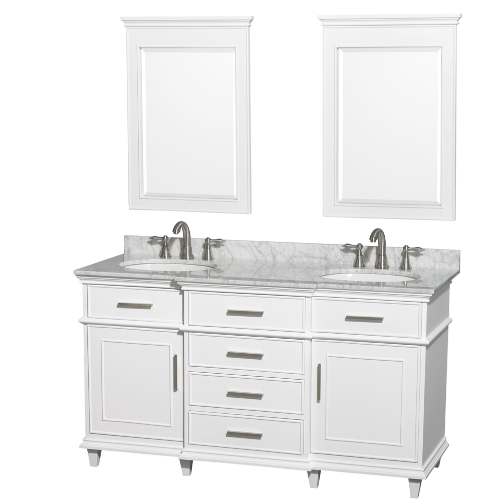 Berkeley 60 Double Bathroom Vanity White