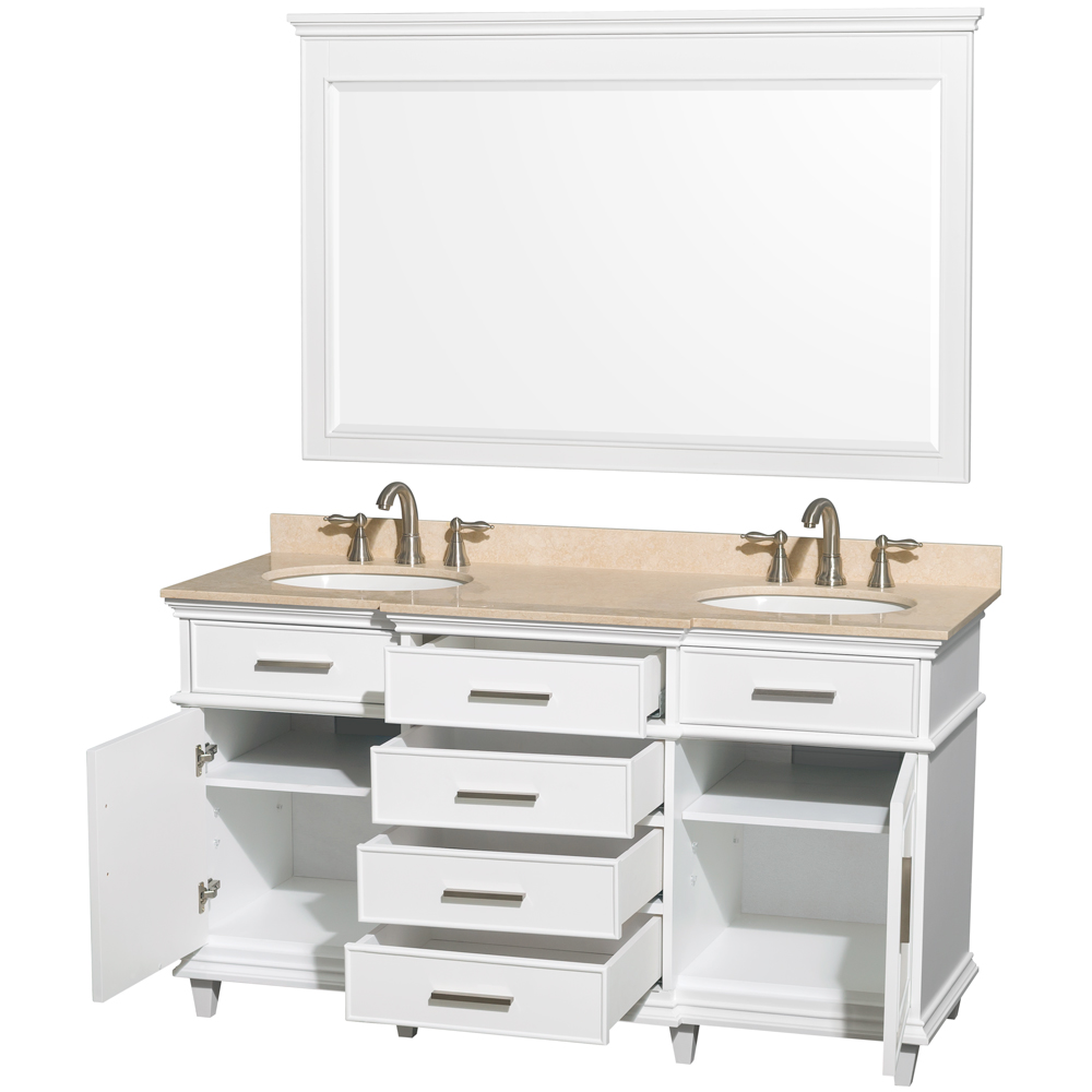 60 white bathroom vanity