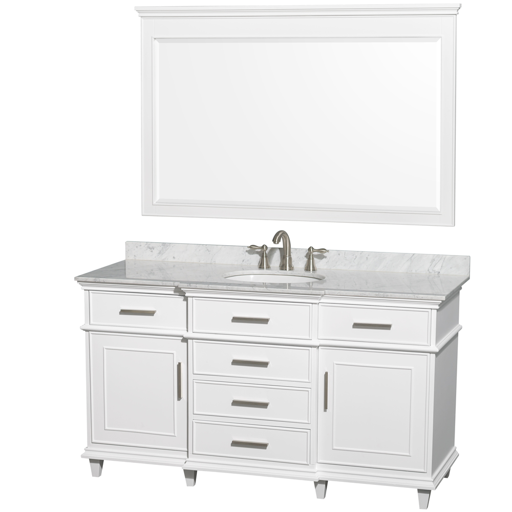 Berkeley 60 Single Bathroom Vanity White Free Shipping