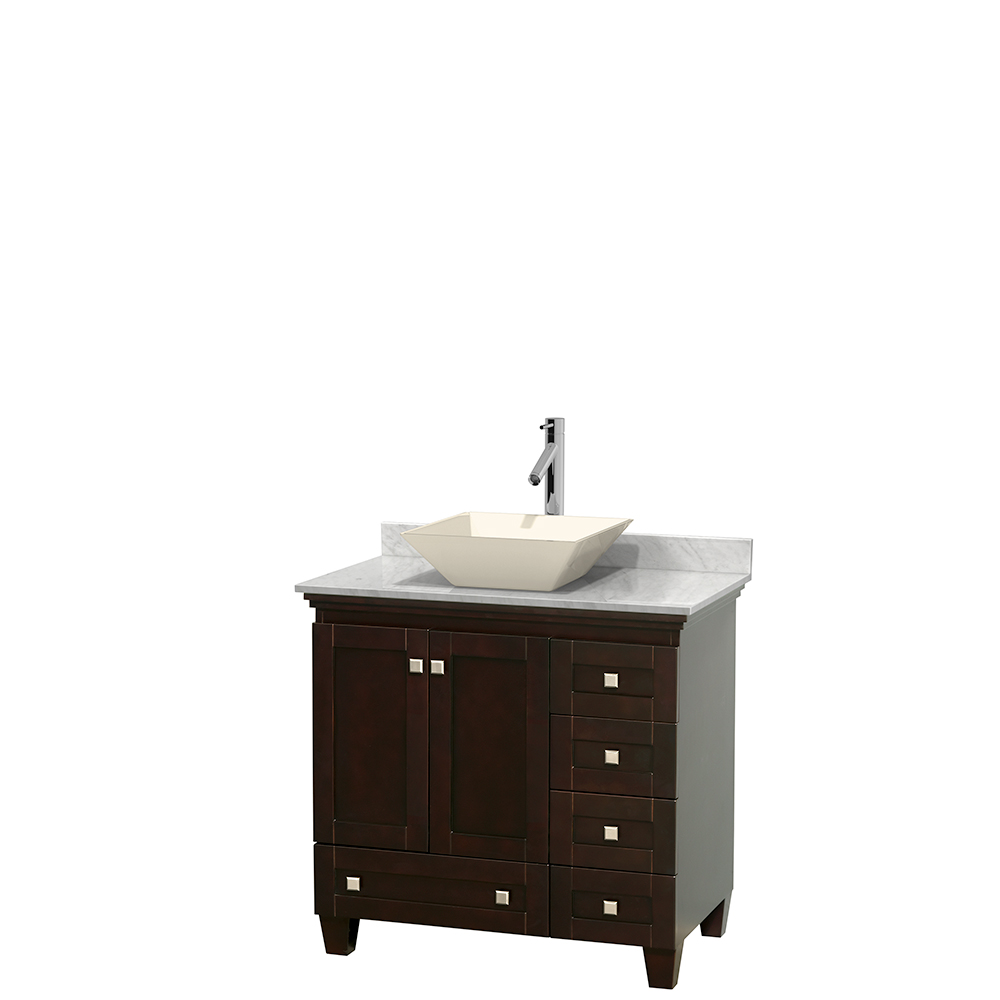 Acclaim 36 Single Bathroom Vanity For Vessel Sink Espresso Beautiful Bathroom Furniture For Every Home Wyndham Collection