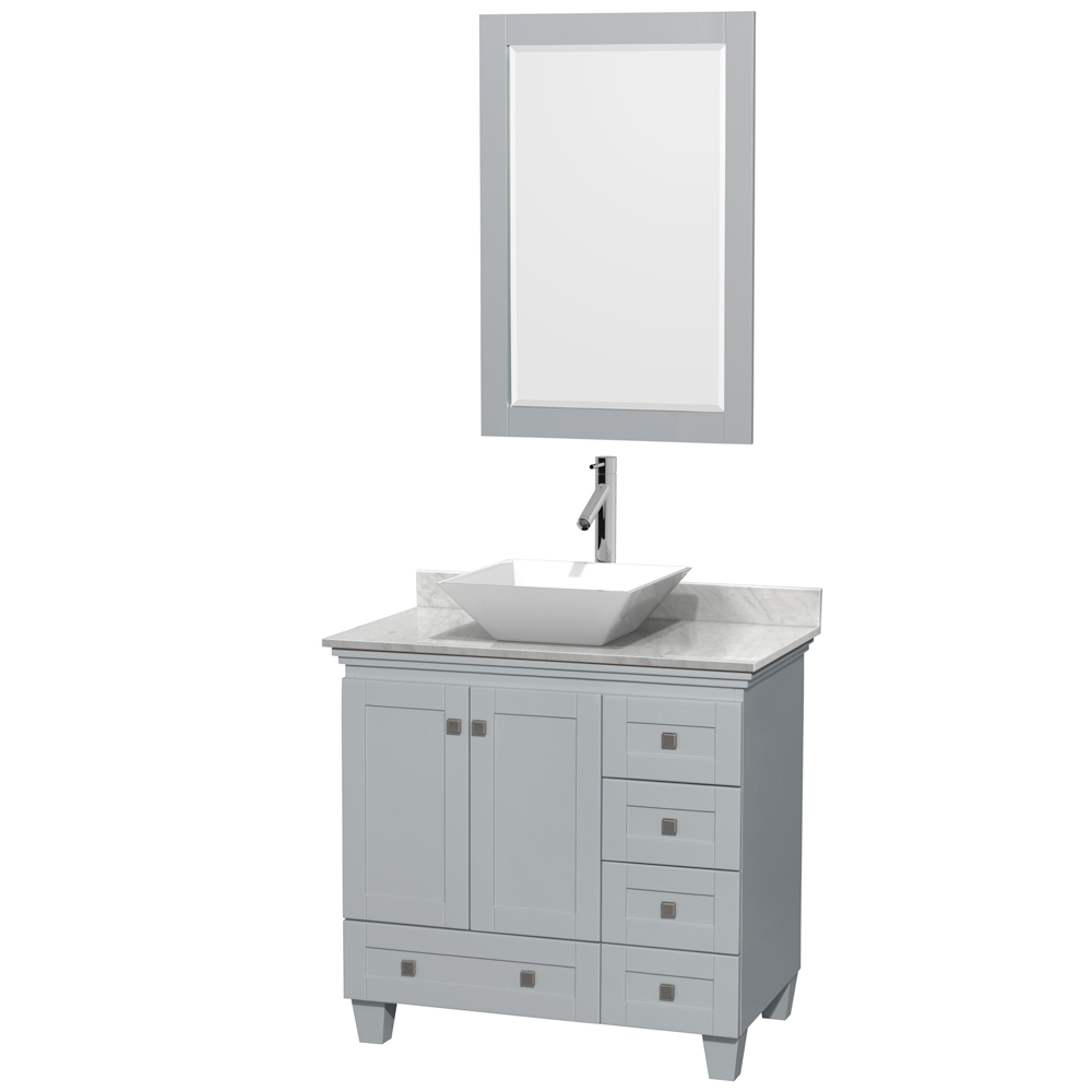 Acclaim 36 Single Bathroom Vanity For Vessel Sink Oyster Gray Beautiful Bathroom Furniture For Every Home Wyndham Collection