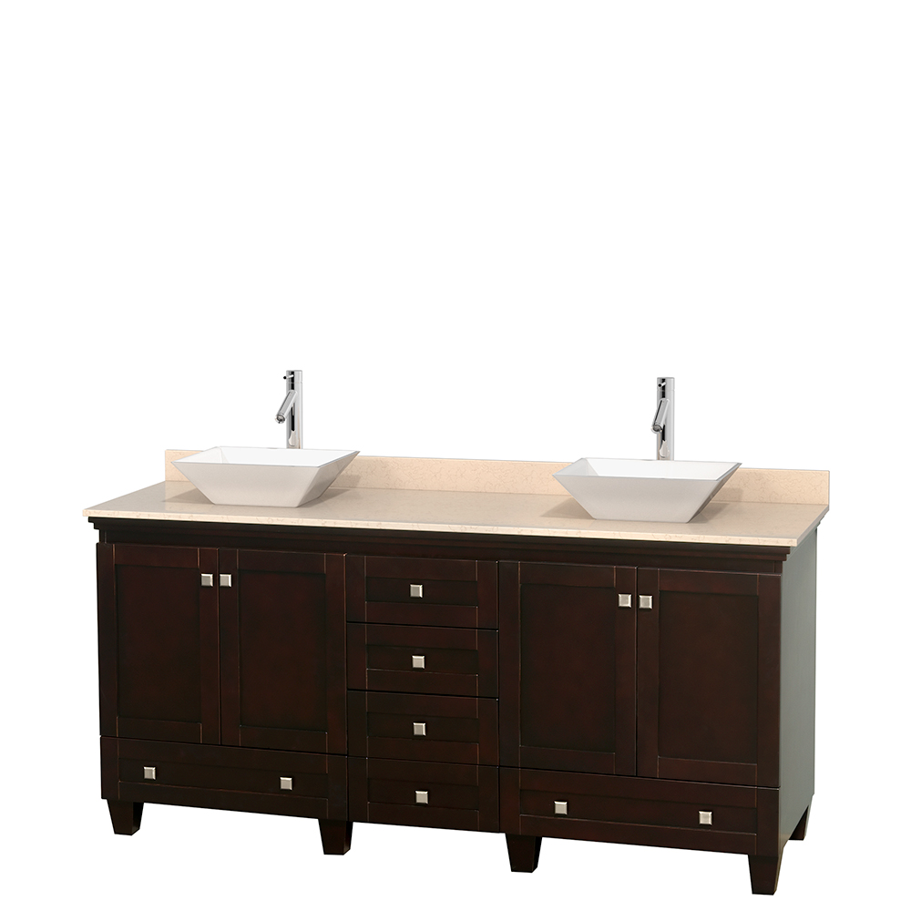 Acclaim 72 Double Bathroom Vanity For Vessel Sinks Espresso Beautiful Bathroom Furniture For Every Home Wyndham Collection